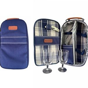 Brookstone Insulated Wine Picnic Set with Glasses